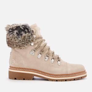 Sam Edelman Women's Bowen Velutto Suede Hiker Style Boots - Grey