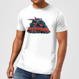 Marvel Deadpool Sword Logo Men's T-Shirt - White