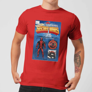 Marvel Deadpool Secret Wars Action Figure Men's T-Shirt - Red