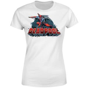Marvel Deadpool Sword Logo Women's T-Shirt - White
