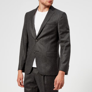 Officine Générale Men's Ticket Pocket Flannel Jacket - Anthracite