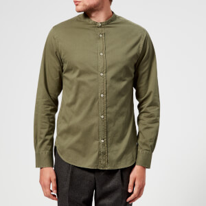 Officine Générale Men's Gaspard Pigment Dyed Twill Shirt - Dusty Olive