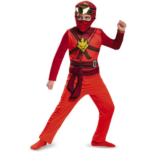 LEGO Ninjago Movie Kids' Kai Classic Fancy Dress Jumpsuit - Red