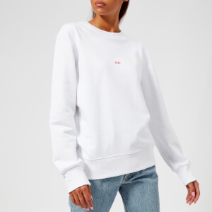 Helmut Lang Women's Taxi Paris Crew Neck Sweatshirt - White