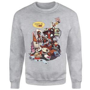 Marvel Deadpool Merchandise Royalties Sweatshirt - Grey