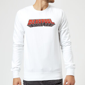 Marvel Deadpool Logo Sweatshirt - White