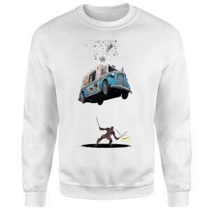 Sweat Homme Deadpool Glace Marvel - Blanc
