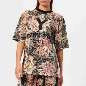 Y-3 Women's All Over Print High Neck Short Sleeve T-Shirt - Flower Camo AOP