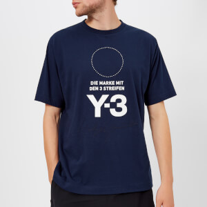 Y-3 Men's Stacked Short Sleeve T-Shirt - Night Indigo: Image 1