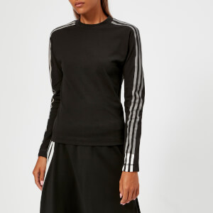 Y-3 Women's 3 Stripe Long Sleeve T-Shirt - Black/Core White