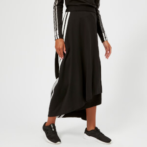 Y-3 Women's 3 Stripe Drape Skirt - Black/Core White