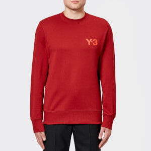 Y-3 Men's Classic Crew Neck Sweatshirt - Rust Red