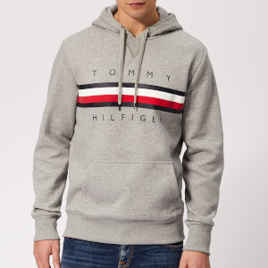 7467f32d Tommy Hilfiger Men's Logo Hoody - Cloud Heather