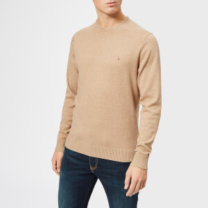 Tommy Hilfiger Men's Pima Cotton Jumper - Batique Khaki Heather
