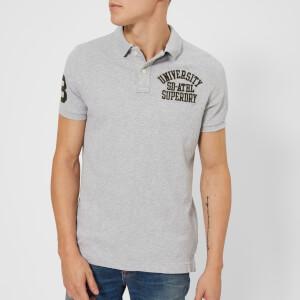 Superdry Men's Classic Short Sleeve Superstate Polo Shirt - Vintage Grey Grit