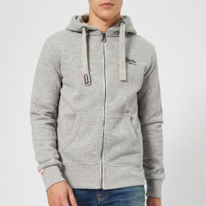 Superdry Men's Orange Label Zip Hoody - Iced Grey Grit
