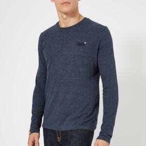 Superdry Men's Orange Label Vintage Embroidery Long Sleeve T-Shirt - Ravine Blue Grit