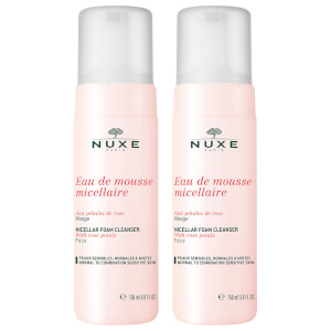 NUXE Rose Petals Micellar Cleanser Foam Duo 2 x 150ml (Worth £29.00)