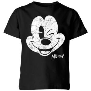 Disney Worn Face Kinder T-Shirt - Schwarz