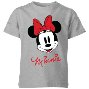 Disney Minnie Face Kids' T-Shirt - Grey