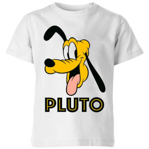 Disney Pluto Face Kids' T-Shirt - White
