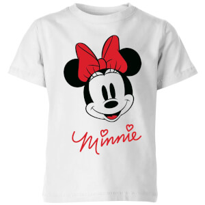Disney Minnie Face Kids' T-Shirt - White