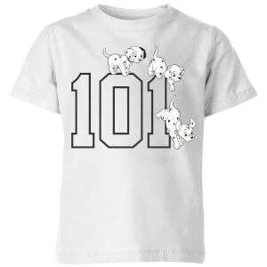 Disney 101 Dalmatiner 101 Doggies Kinder T-Shirt - Weiß