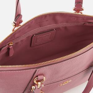 Coach Women's Polished Leather Prairie Satchel - Rose: Image 5