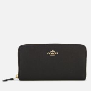 Coach Women's Crossgrain Leather Accordion Zip Wallet - Black