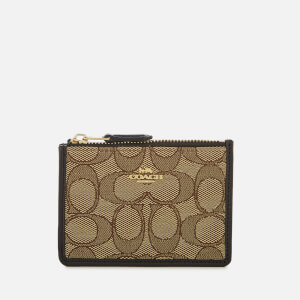 Coach Women's Signature Mini ID Skinny Wallet - Khaki/Brown