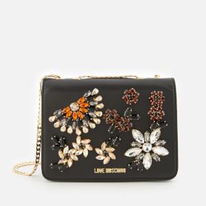 Love Moschino Women's Jewelled Chain Shoulder Bag - Black