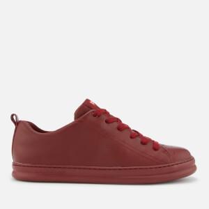 Camper Men's Runner Low Top Cupsole Trainers - Dark Red