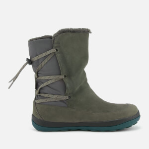 Camper Women's Suede Flat Boots - Medium Grey