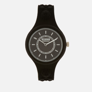 Versus Versace Men's Fire Island Bicolor Silicone Watch - Black/White