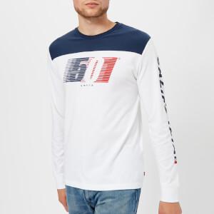 Levi's Men's Long Sleeve Graphic T-Shirt - White
