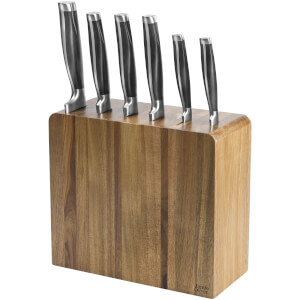 Jamie Oliver 6 Piece Acacia Knife Block