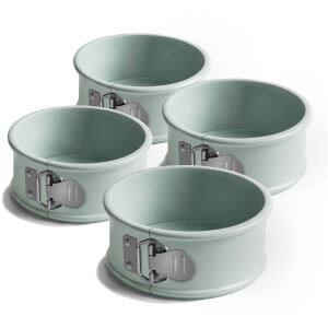 Jamie Oliver 10cm Non-Stick Mini Springform Round Cake Tins - Set of 4