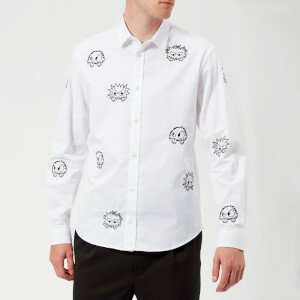 McQ Alexander McQueen Men's Sheehan Monster Party Shirt - Optic White