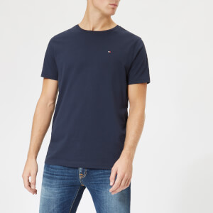 Tommy Hilfiger Men's Cotton Crew Neck Short Sleeve T-Shirt - Navy Blazer