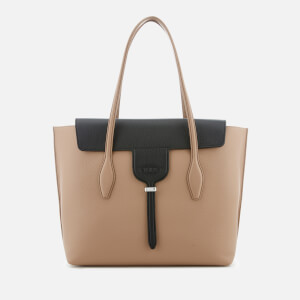 Tod's Women's Shopping Tote Bag - Beige/Black