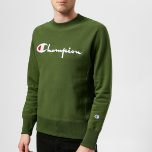 Champion Men's Large Logo Sweatshirt - Green