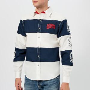 Billionaire Boys Club Men's Striped Poplin Shirt - White