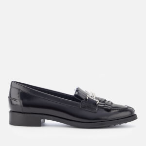 Tod's Women's Buckle Fringed Loafers - Black