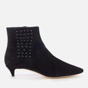 Tod's Women's Kitten Heeled Ankle Boots - Black