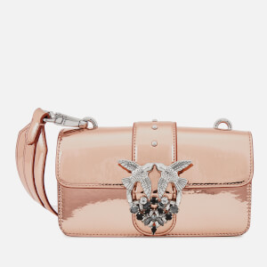 Pinko Women's Mini Love Sparkley Bag - Pink