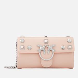 Pinko Women's Brittan Wallet with Shoulder Strap - Pink