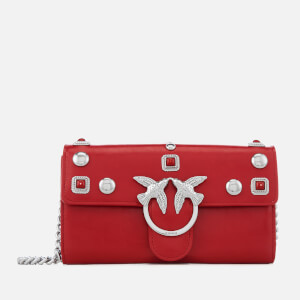 Pinko Women's Brittan Wallet with Shoulder Strap - Red