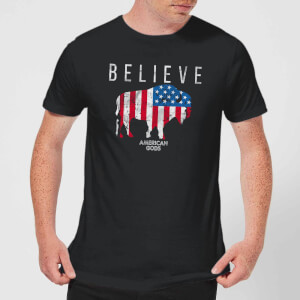 American Gods Believe In Bull Men's T-Shirt - Black