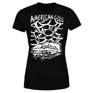 Camiseta American Gods Coche Tormenta - Mujer - Negro