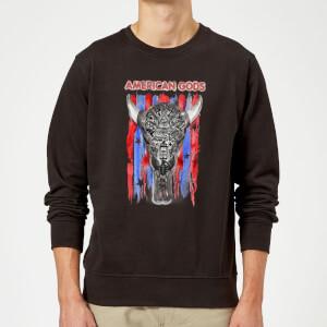 American Gods Skull Flag Sweatshirt - Black